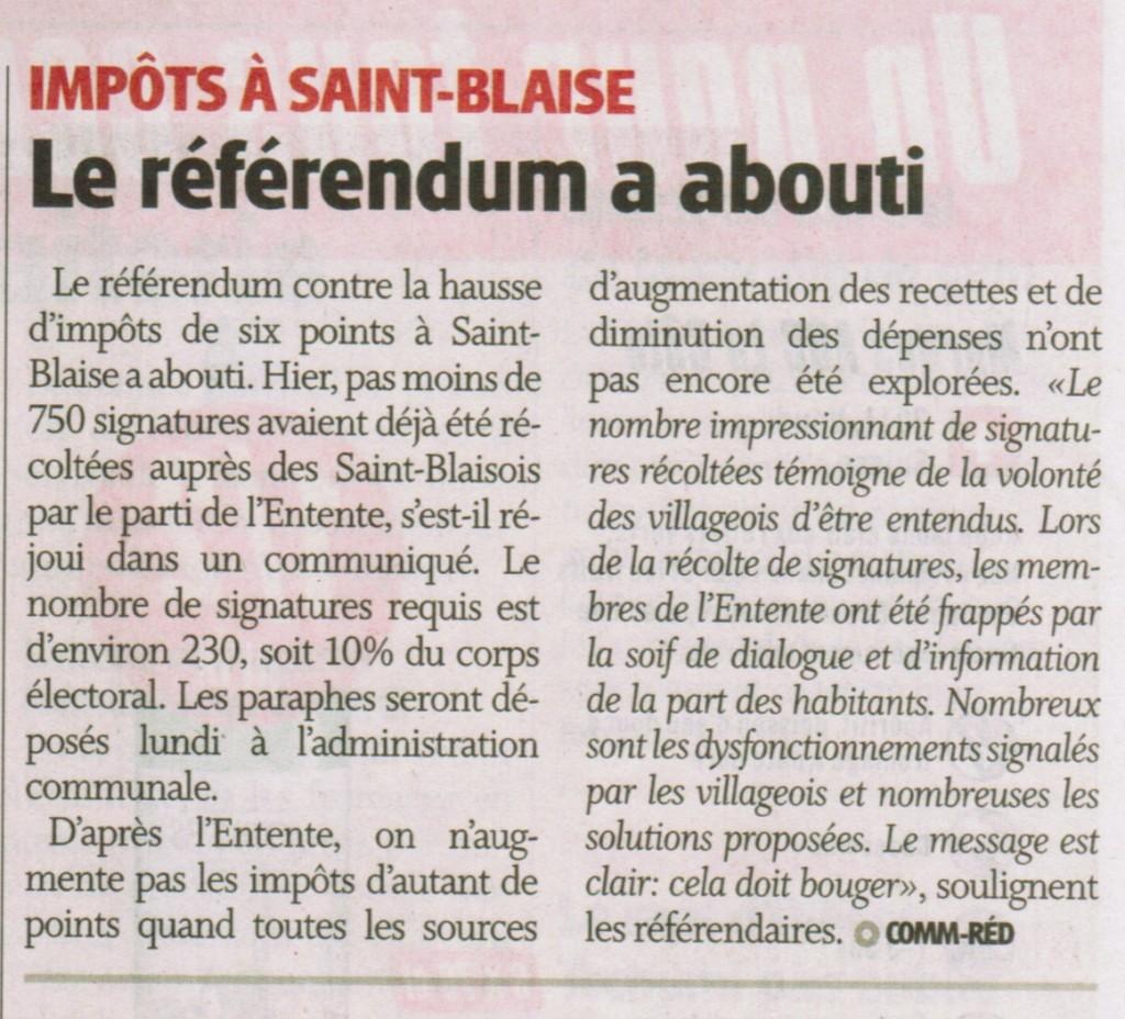 L'Express parle du référendum