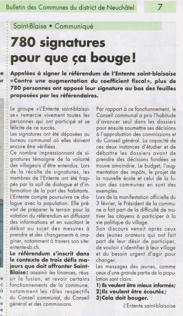 08-02-2013: Article dans le Bulcom