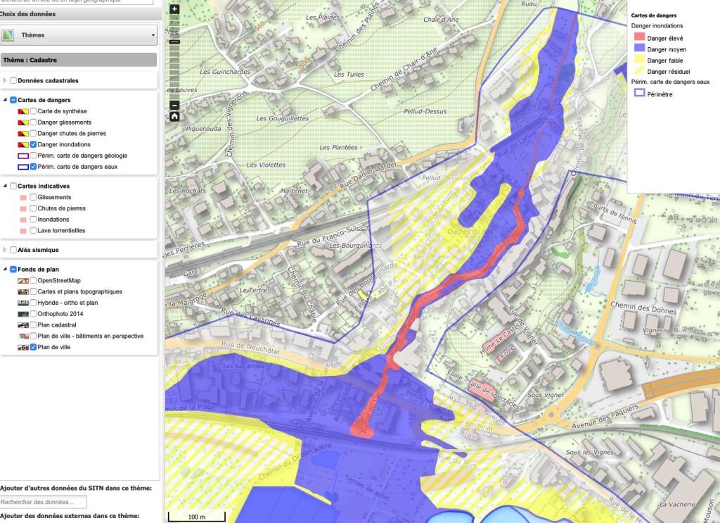 Les risques d'inondations à Saint-Blaise